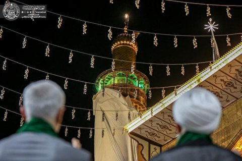 The restored minaret of the holy shrine of Alavi was unveiled + Images and Videos