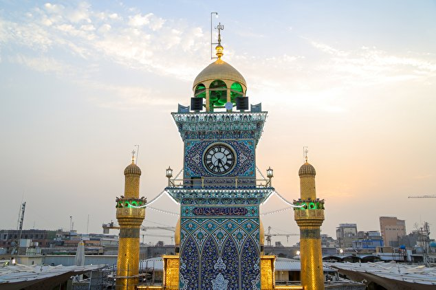 Clocktower in the holy shrine of Imam Ali