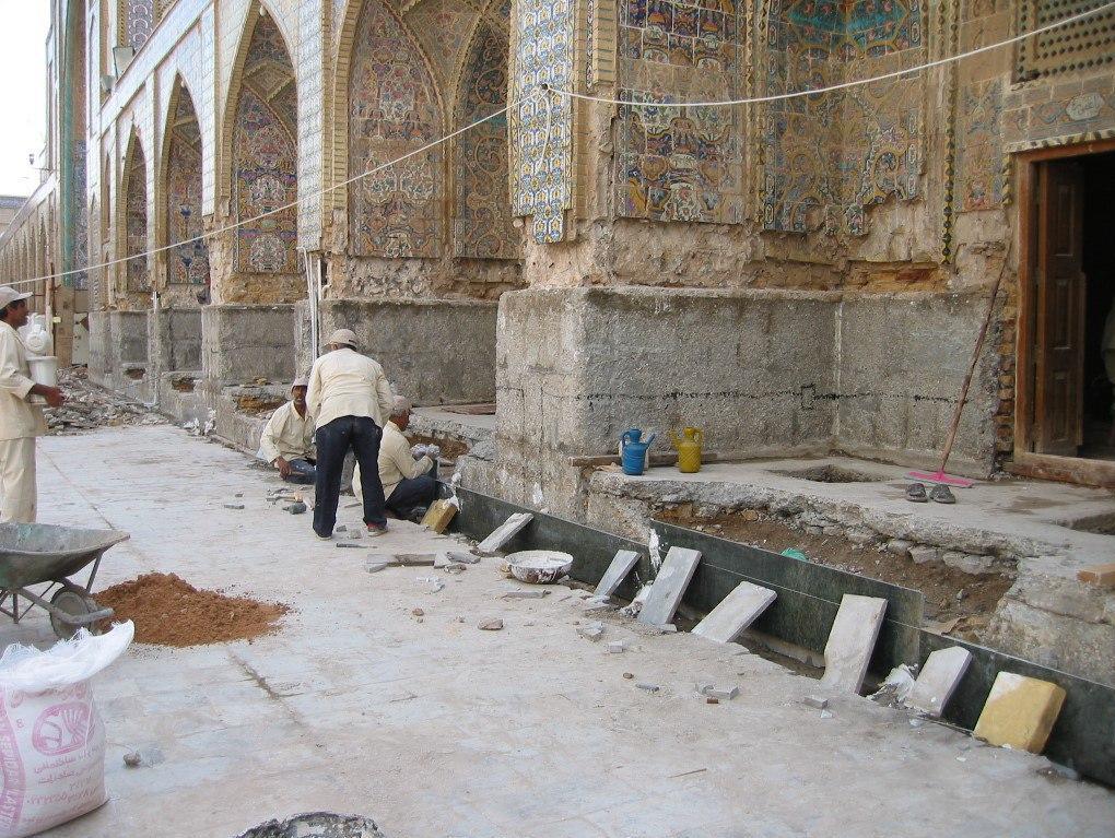 یک دهه بازسازی حرم پدر و پسر امام رضا (ع) در کاظمین + عکس